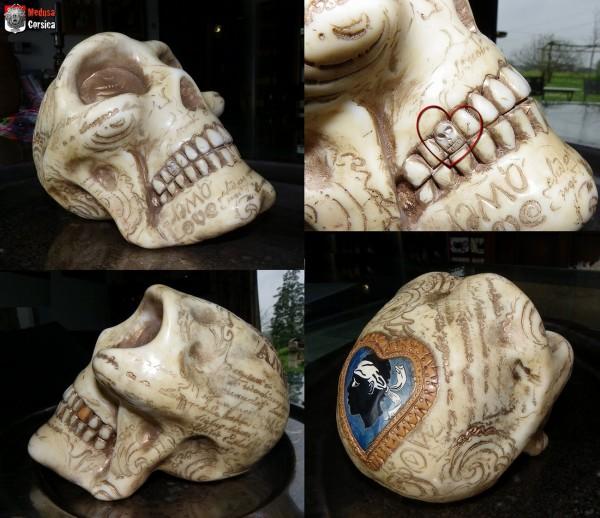 """détail dent sculptée et autres vues """"crâne-corsica-os"""""""