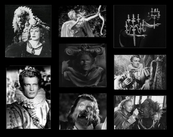 compilation d'images originales du film de Cocteau