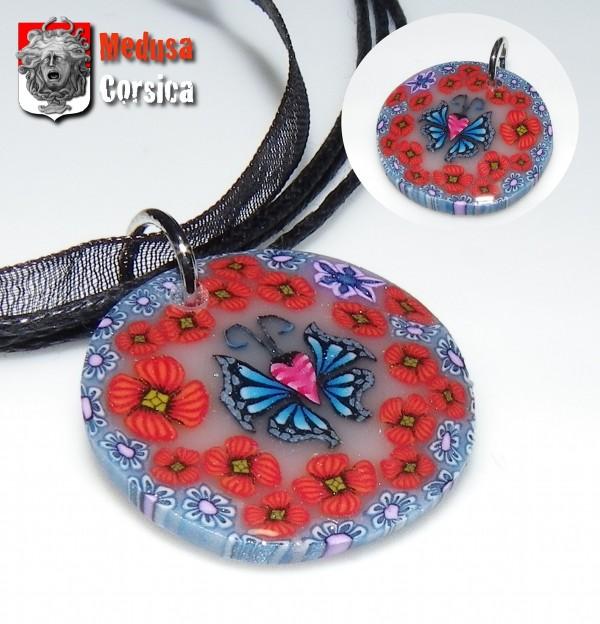 millefiori papillon recto miroir du verso