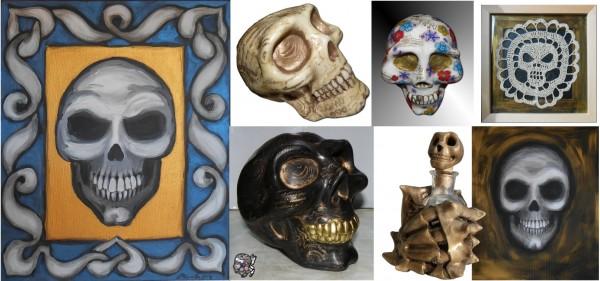 """compilation de crânes pour l'expo """"Artissima 2014"""" de Ghisonaccia"""