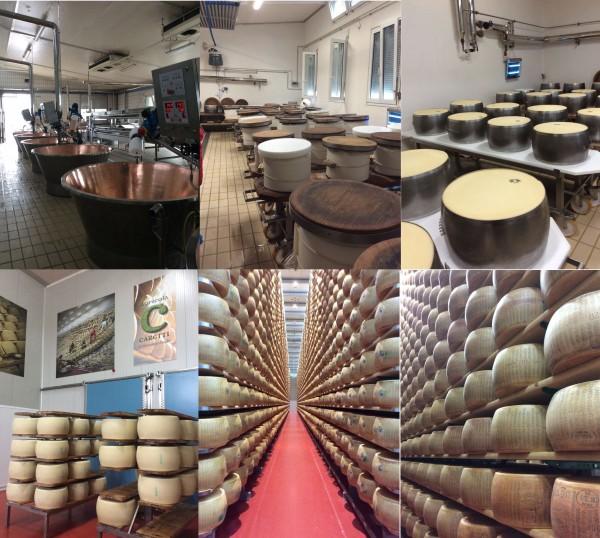 """visite de la fromagerie """"caseificio"""" Caretti dans la région de Bologne"""