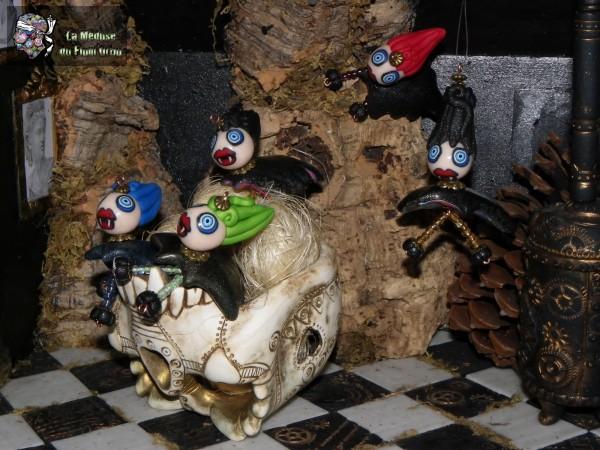 mini medusettes vampires dans leur nid