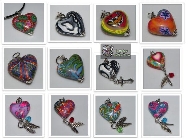 Coeurs au choix proposés avec cordon de tonton ou organisa ou chaînette