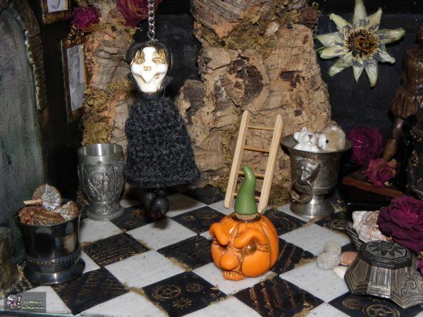 vampire niais et citrouille patibulaire, décoration Halloween 2016