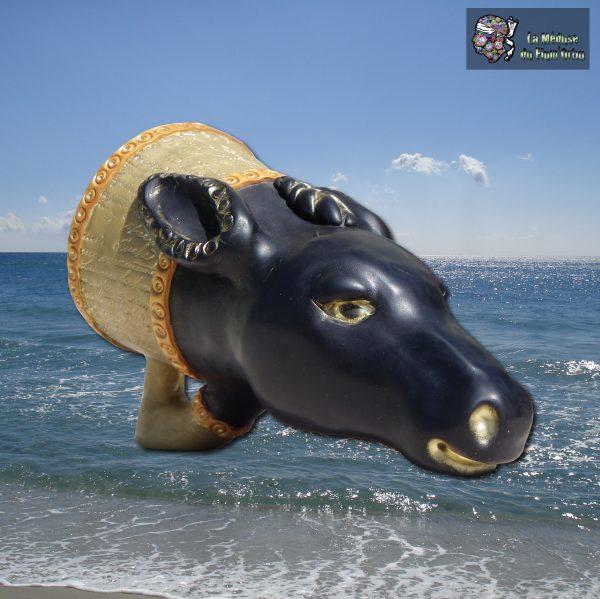 Rhyton tête de cheval inspiration Aléria (âne+chien)