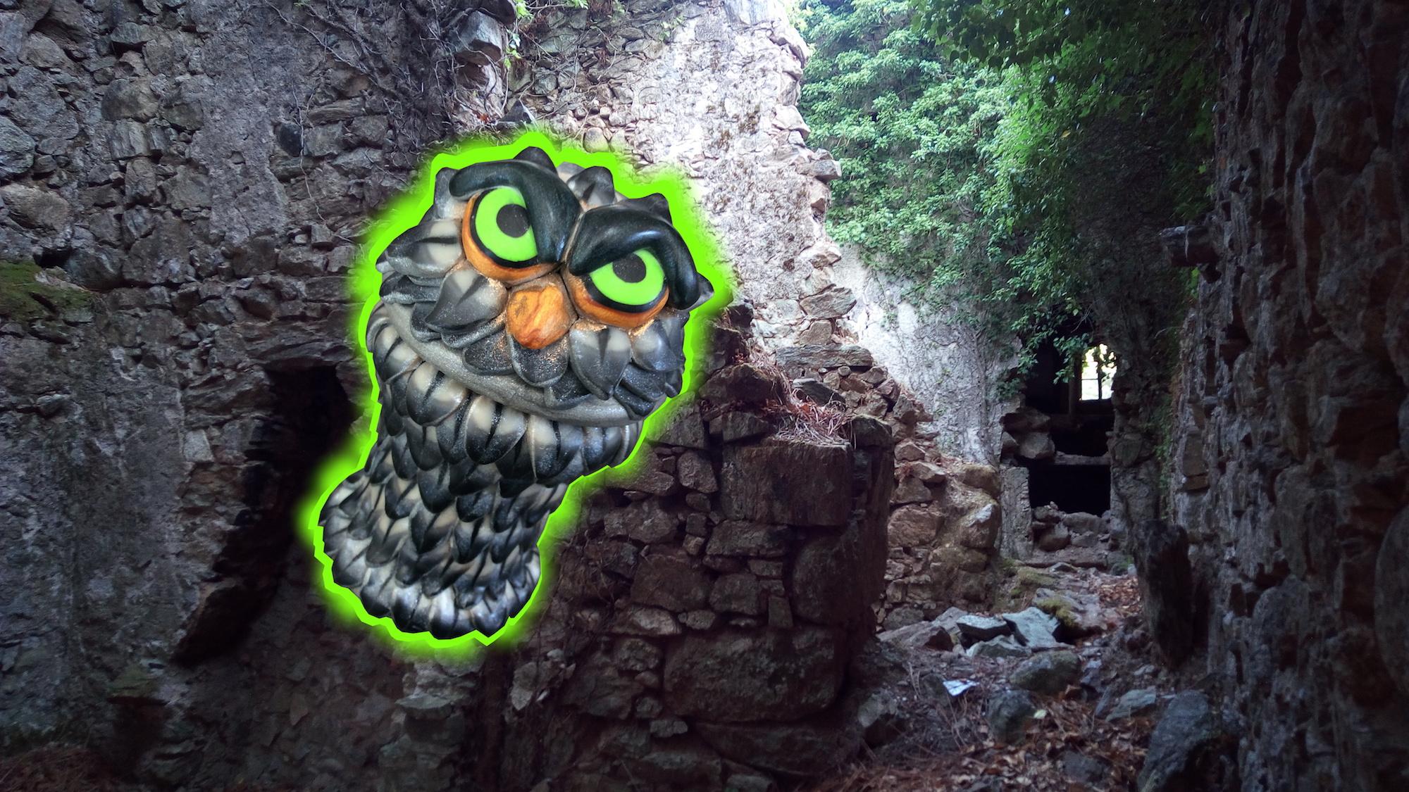 Chouette fantôme de la ruine