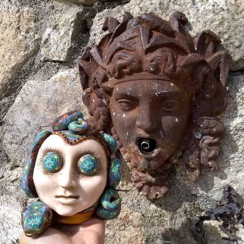 Sculpture tête de Méduse
