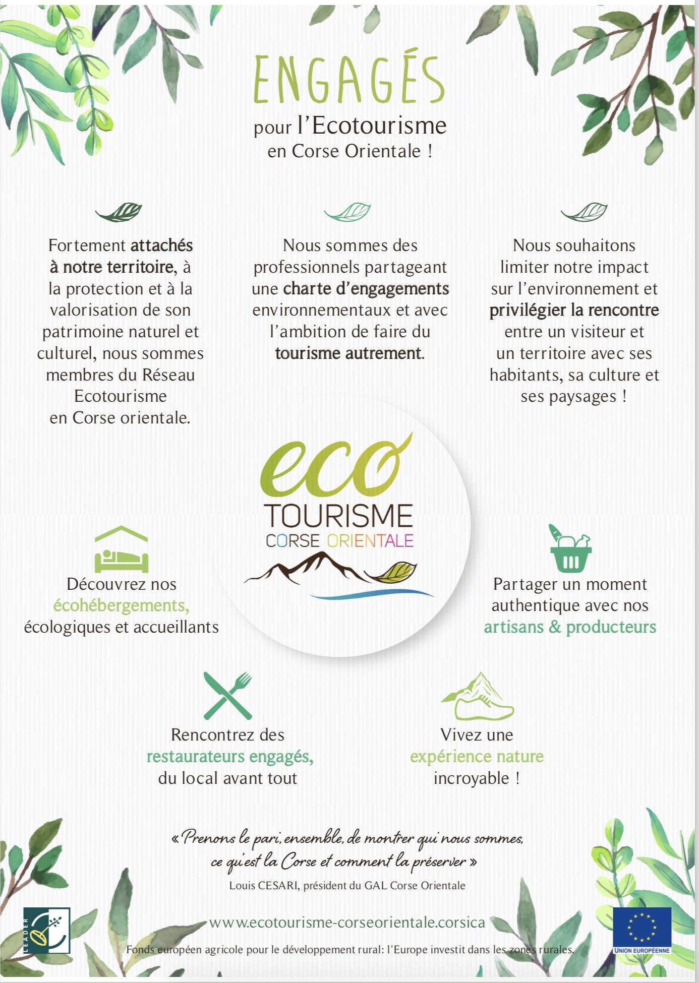 L'éco-Tourisme en Corse Orientale, j'adhère!